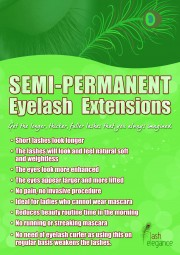 Promotional Poster – Semi-Permanent Eyelash Extensions